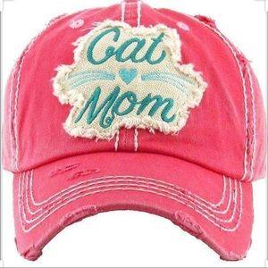 Cat Mom Pink Baseball Hat